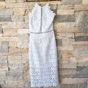 Lace Halter Midi Dress Powder Blue